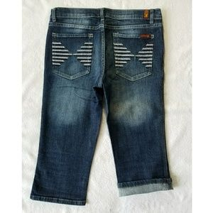7 FOR ALL MANKIND CROPPED JEAN PANTS